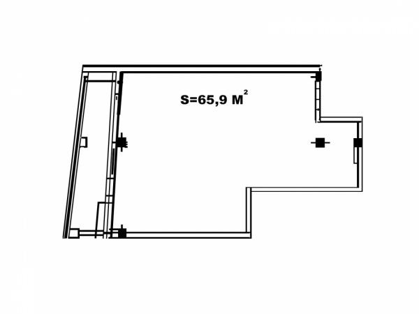 Планировки однокомнатных квартир 65.9 м^2
